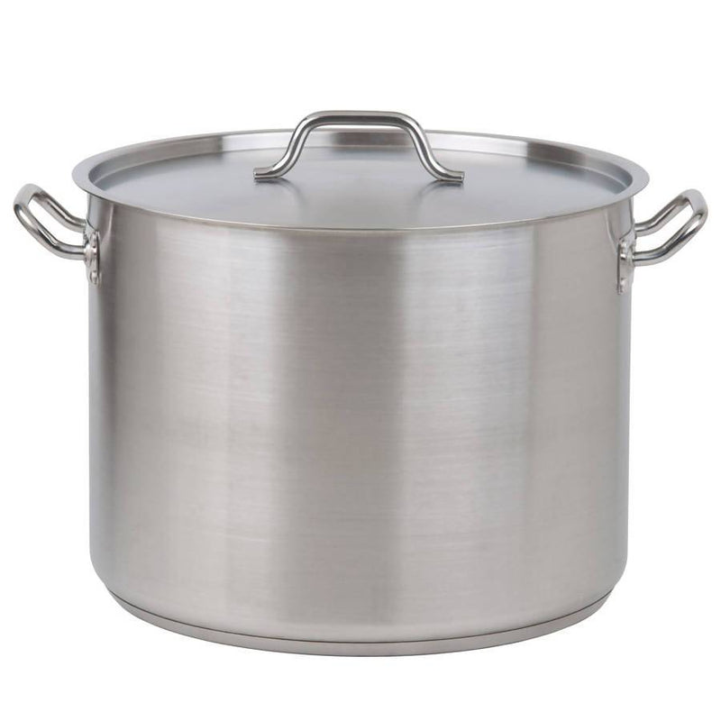Commercial Stock Pot with Lid Stainless Steel 34L - Local Kiwi Deals