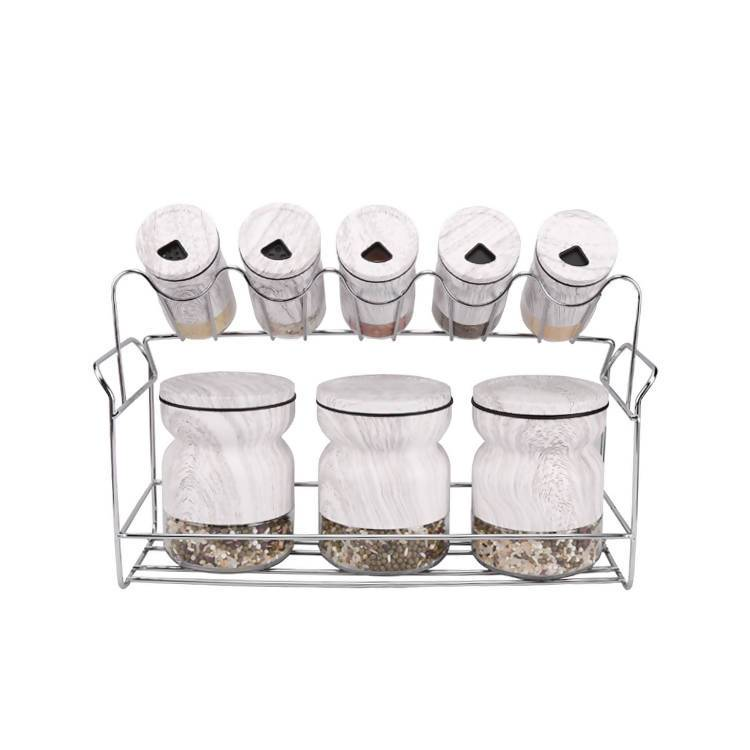Condiment Set Salt Pepper Holder 8pcs - Local Kiwi Deals