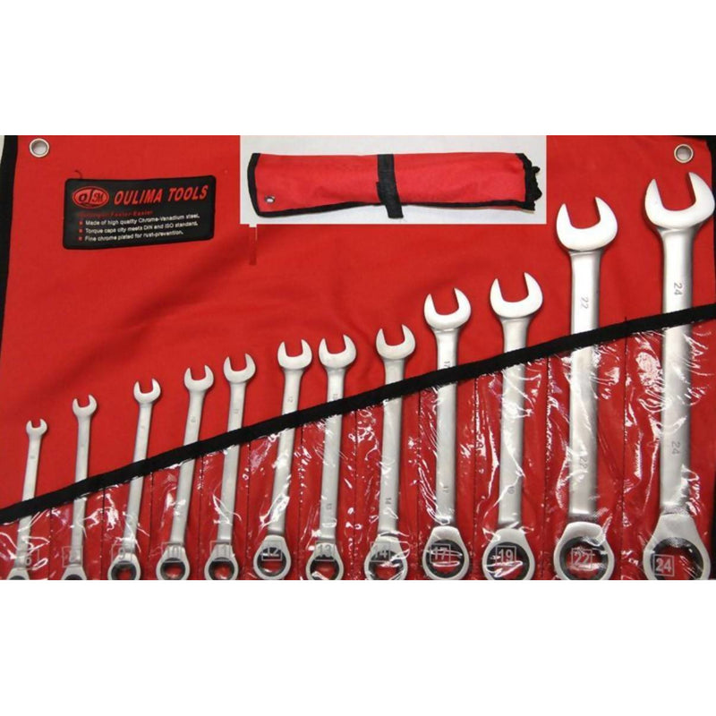 Spanner 12pc 6-24mm Comb Ratchet Wrench - Local Kiwi Deals