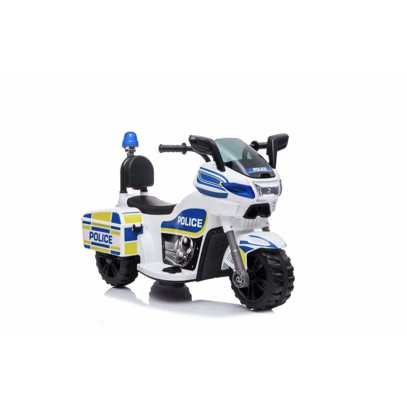Police Bike Ride on Toy Motorcycle Battery Powered and Leather Seat - Local Kiwi Deals