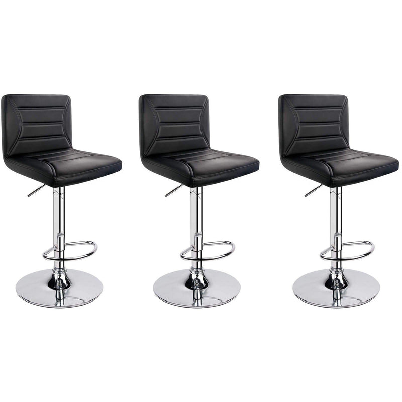 Bar Stool Contemporary 3pcs BLACK - Local Kiwi Deals