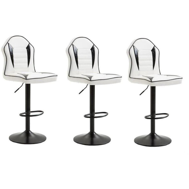 Bar Stool Black and White 3pc - Local Kiwi Deals