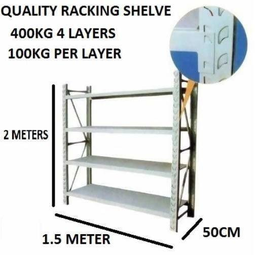 Steel Storage Shelves 2X1.5X.5M - Local Kiwi Deals