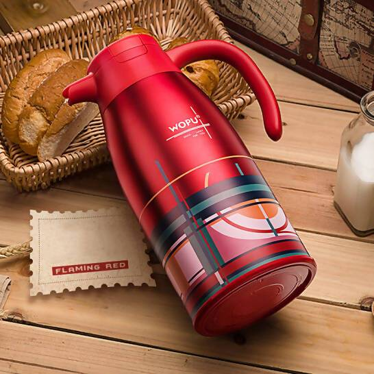 Thermos Flask Stainless Steel Red - Local Kiwi Deals