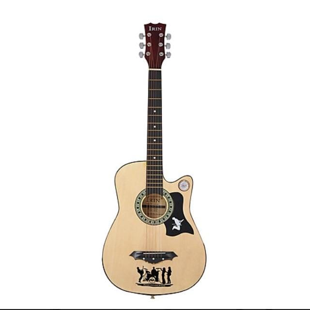 "Mix Items Music and Instruments 38"" Acoustic Guitar Red/Orange/Black/Natural/Blue"