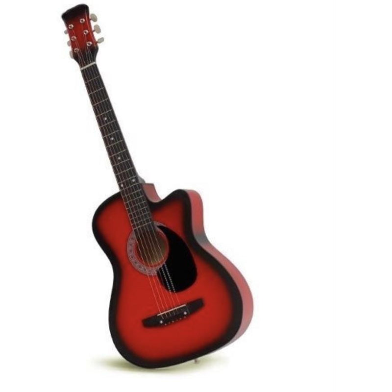 "38"" Acoustic Guitar Red/Orange/Black/Natural/Blue - Local Kiwi Deals"