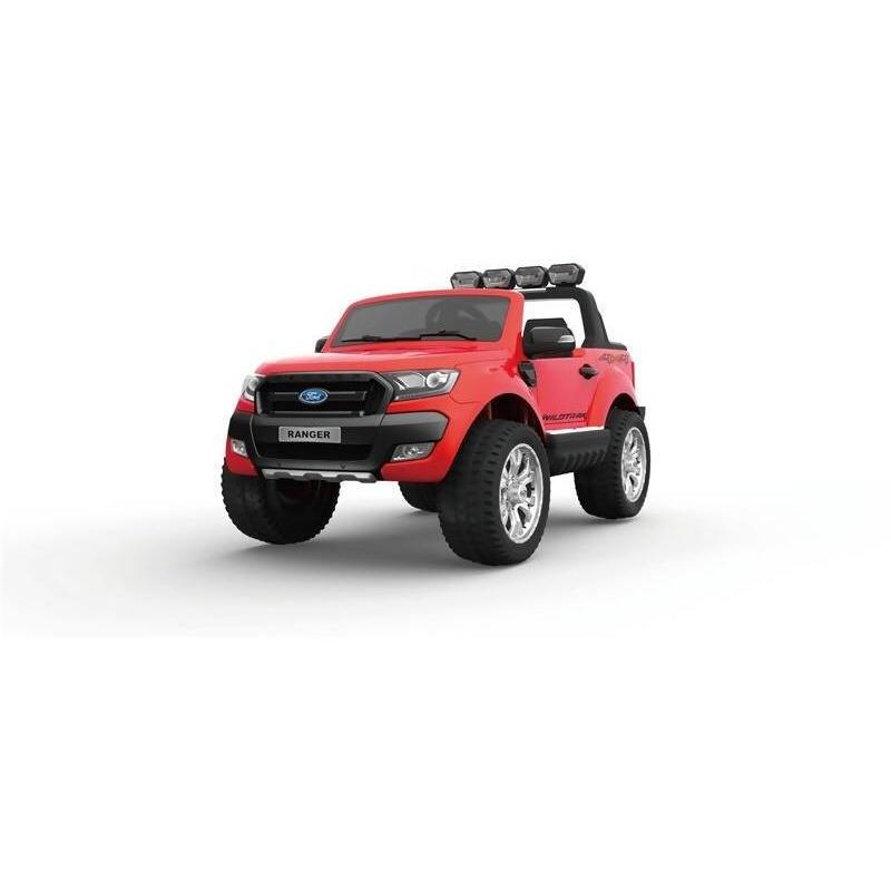 FORD RANGER RIDE ON TOY CAR 4W DRIVE 2x12V NEW SHAPE RED COLOR - Local Kiwi Deals