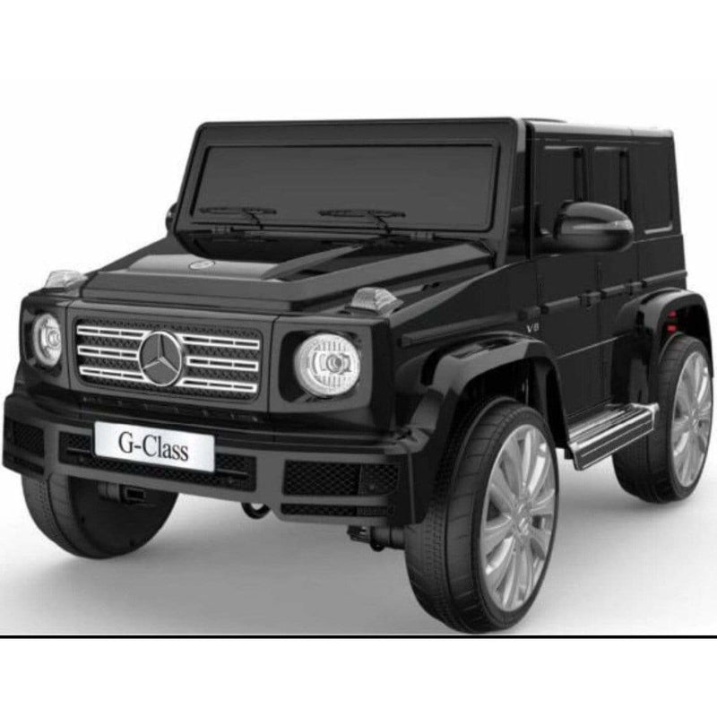 Ride on Toy Car Mercedes Benz G500 G Wagon 12v with Leather Seats Red White Black - Local Kiwi Deals
