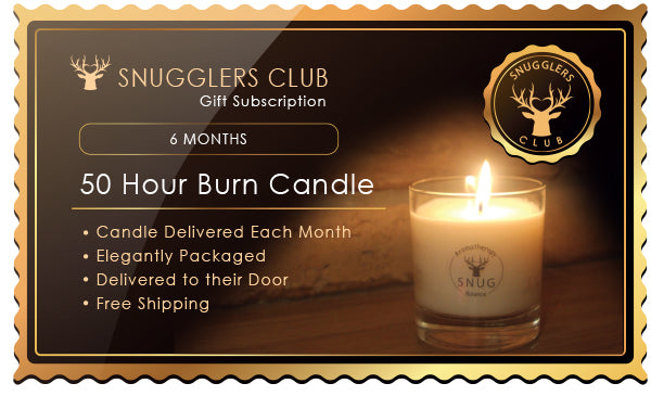 50 Hour Burn Candle - 6 Month Subscription as a Gift