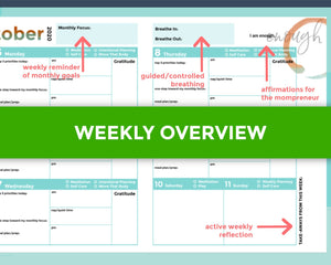 Weekly overview for Daily Planner for Mompreneurs