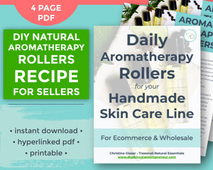 Cover page for essential oil roll on recipe