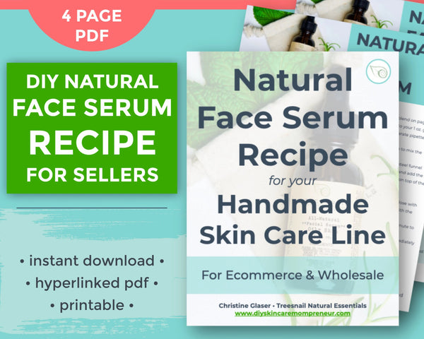 Cover page flat lay for essential oil face serum recipe