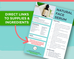 Screenshot of natural face serum download links