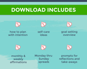 Download inclusions for Q2 printable day planner