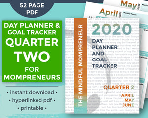 Cover of Q2 Day Planner for Mompreneurs