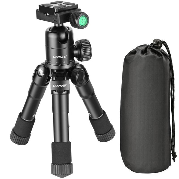 small desktop tripod for camera with carrying case