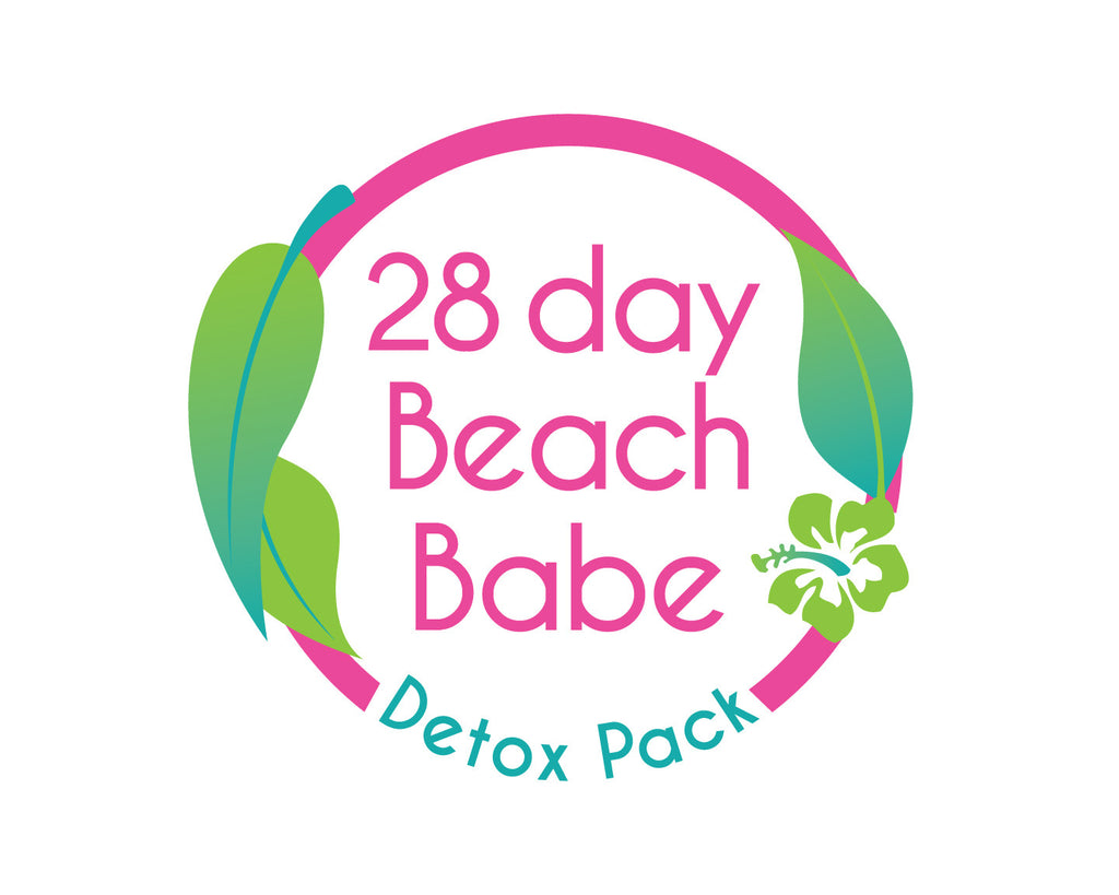 Beach Babe Detox Pack - 28 Days / Free Unicorn Drink Floater - Beach Babe Tea
