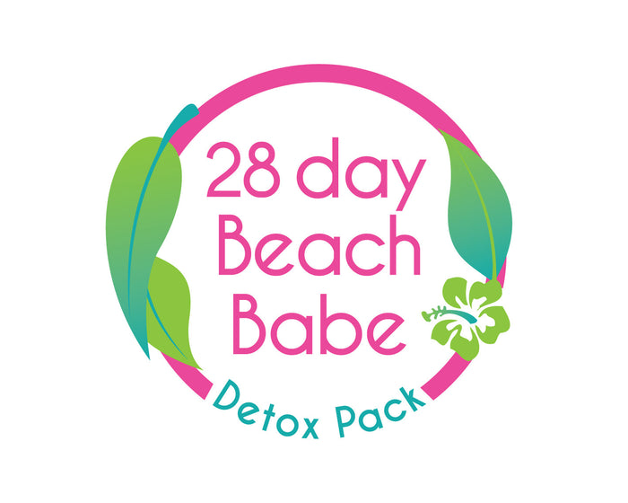 Beach Babe Detox Pack - 28 Days + Free Unicorn Drink Floater - Beach Babe Tea