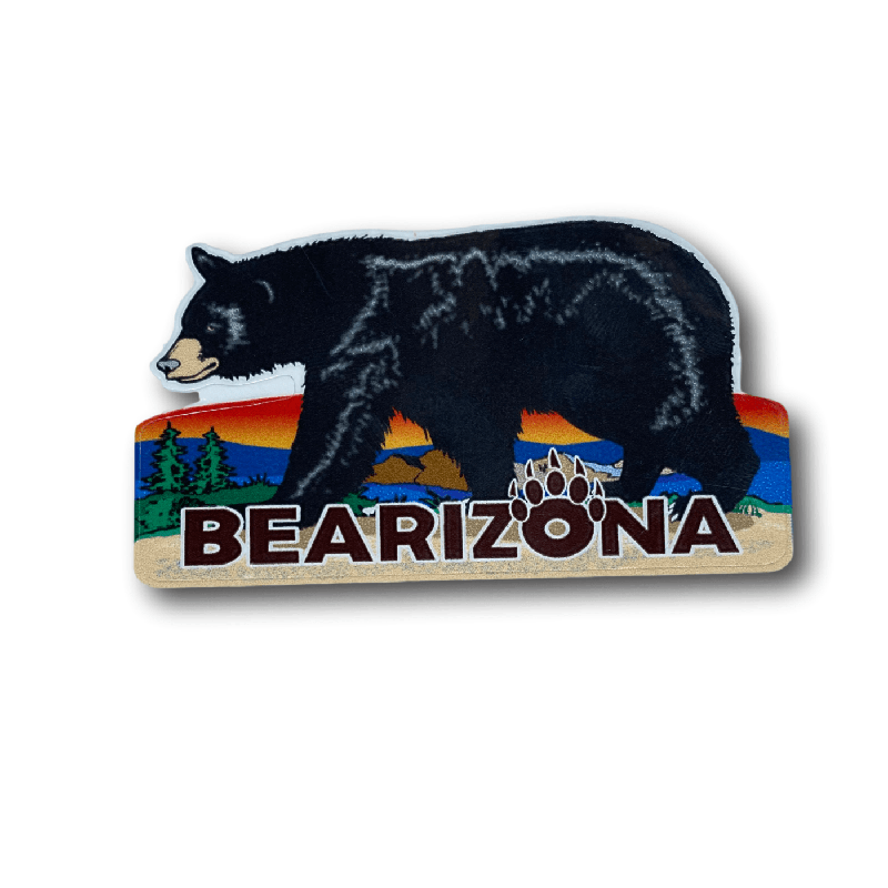 Bearizona Walking Bear at Sunset Sticker