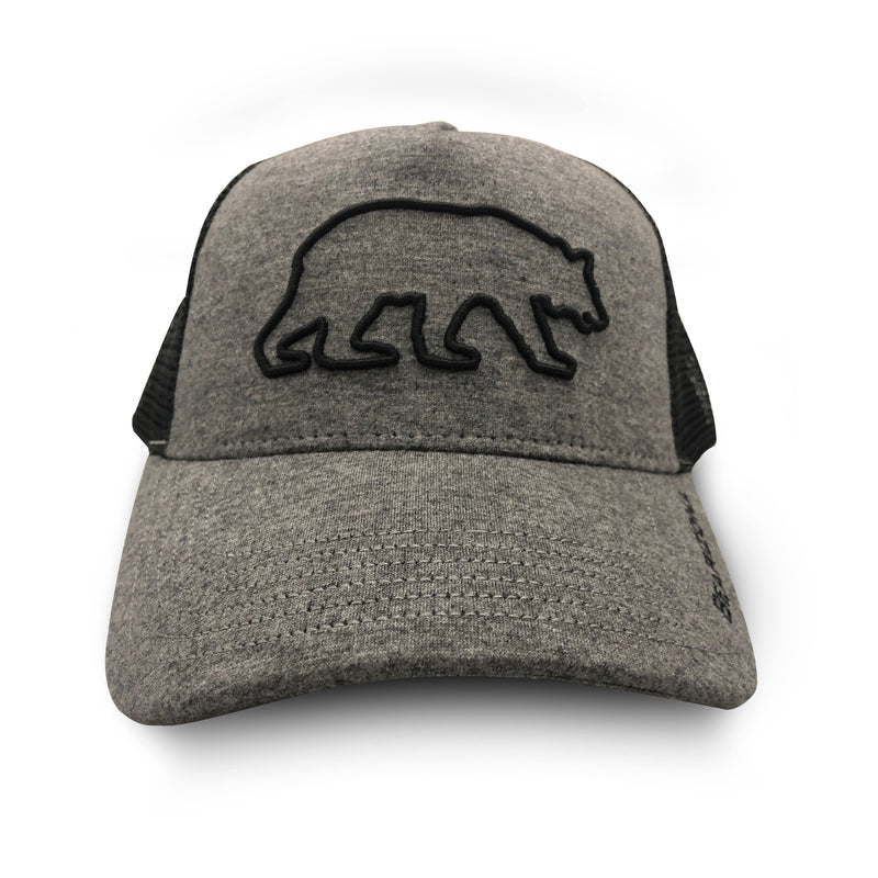 Bearizona Grey Snapback Hat with Bear Outline