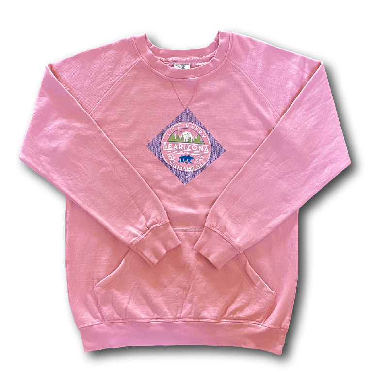 Bearizona Ladies' Bear in Diamond Crew Sweatshirt S / ROSEPINK