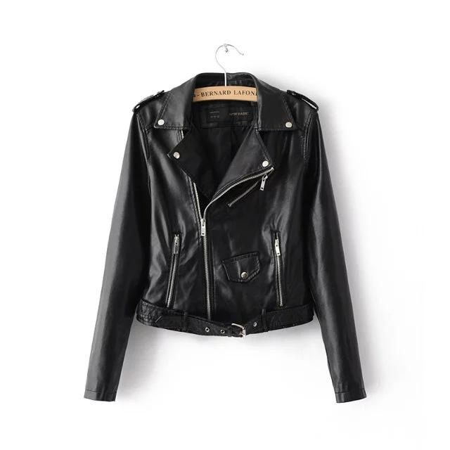 Veste Cuir Synthétique Tendance Black - The Cool Mind
