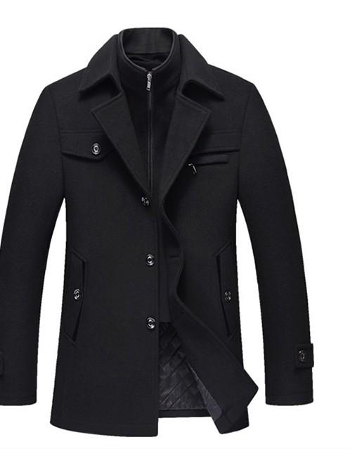 Overcoats Collar Casual - The Cool Mind