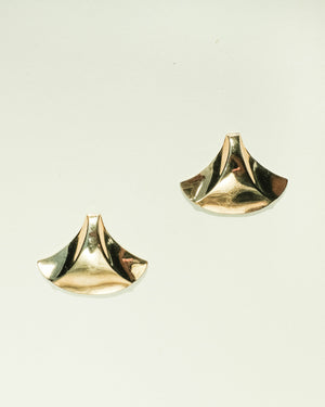 VINTAGE GOLD FLARE EARRINGS