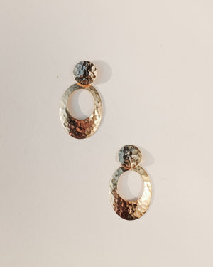 VINTAGE GOLD RETRO STYLE EARRINGS