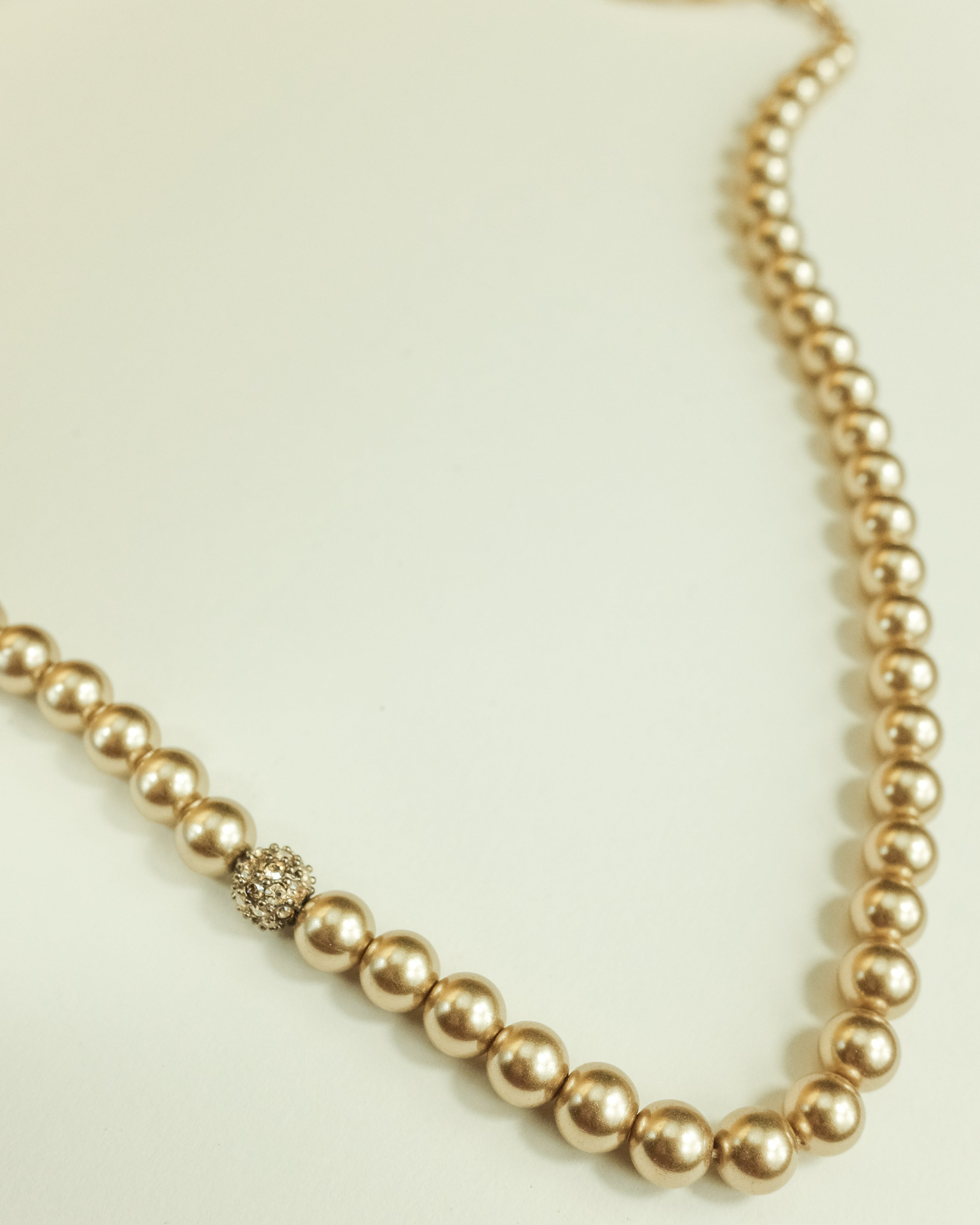 VINTAGE GIVENCHY DARK CHAMPAGNE PEARL NECKLACE