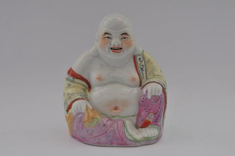 painted porcelain figurine buddha sitting