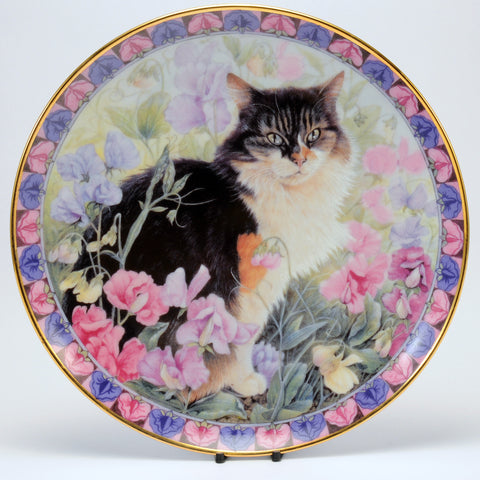 Decorative Cat Plate, Danbury Mint  Agneatha