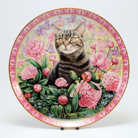Decorative Cat Plate, DM  Christie