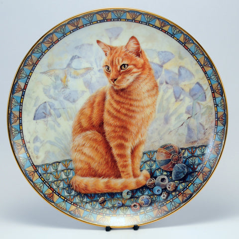Decorative Cat Plate, DM  Spiro