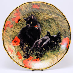 Decorative Cat Plate, Davenport  Scarlet Idyll