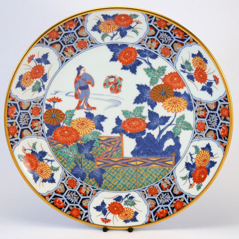 Imari Japanese decorative plate sceneB (2 of 6)