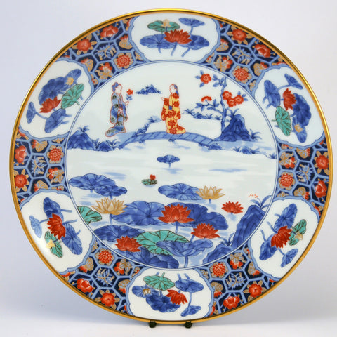 Imari Japanese decorative plate sceneC (3 of 6)