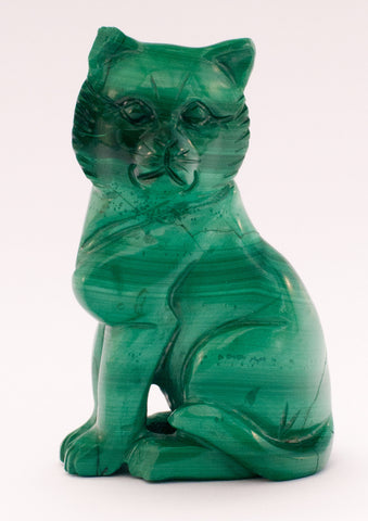 carved cat turquoise stone 255
