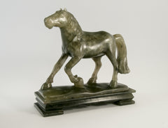 carved green soapstone horse