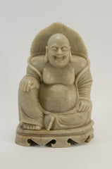carved soapstone buddha sitting 075