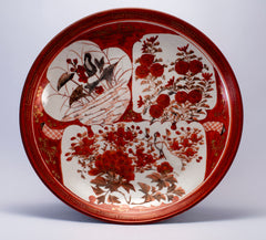 Japanese unusual decorative porcelain taisho bowl decorative plate