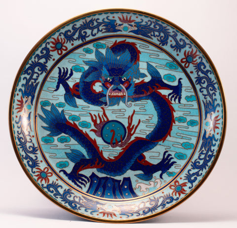 chinese dragon metal plate