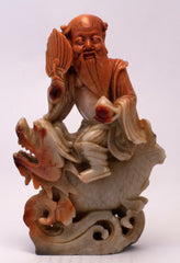 chinese soapstone carving immortal fish