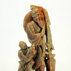 chinese soapstone fisherman boy 1