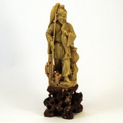 chinese soapstone happy fisherman 1