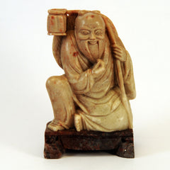 chinese soapstone sitting bearded man basket 1