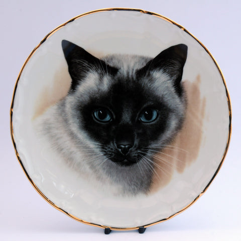Decorative Cat Plate IJL Giftware  Siamese