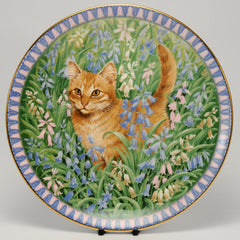Decorative Cat Plate, Aynsley  Lesley Anne Ivory  Meet my kittens Spiro, March
