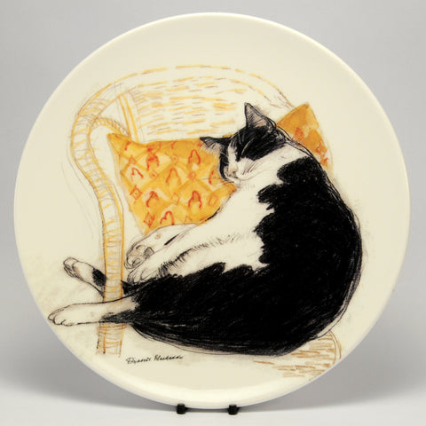Decorative Cat Plate Royal Mail (Royal Doulton)  Fred asleep