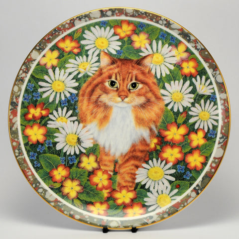 Decorative Cat Plate, Coalport  Anne's Cat Fudge